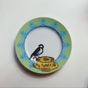 Anthropologie Set of 5 Bird Tea Cup Plates